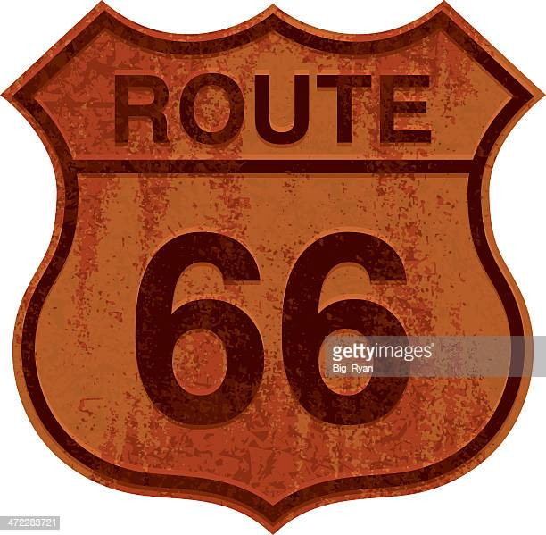 rusty route 66 sign