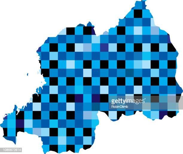 Rwanda Blue Squares Maps