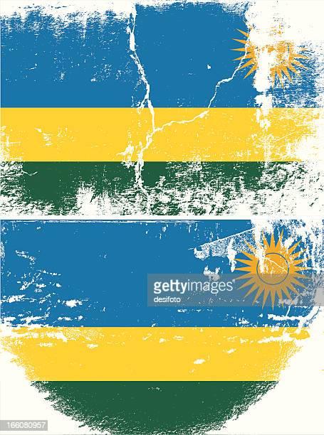 Rwanda Grunge flag