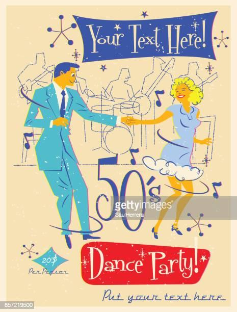 50´s ダンス パーティー - 舞踏会点のイラスト素材/クリップアート素材/マンガ素材/アイコン素材