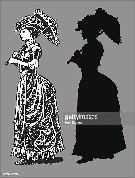 1890's High Society Woman with Parasol - Time