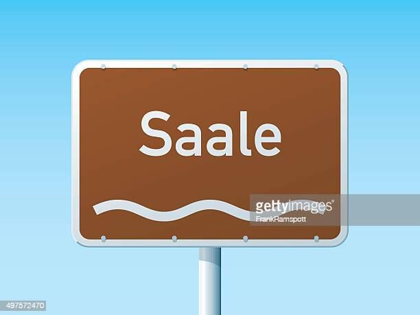 Saale River deutschen Road Sign