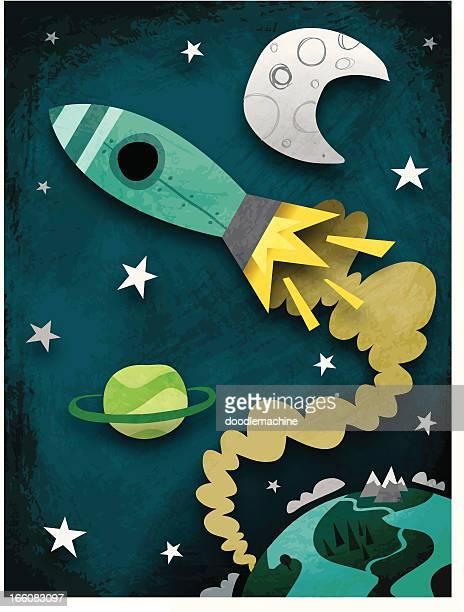 sacetime trip - astronaut stock illustrations, clip art, cartoons, & icons