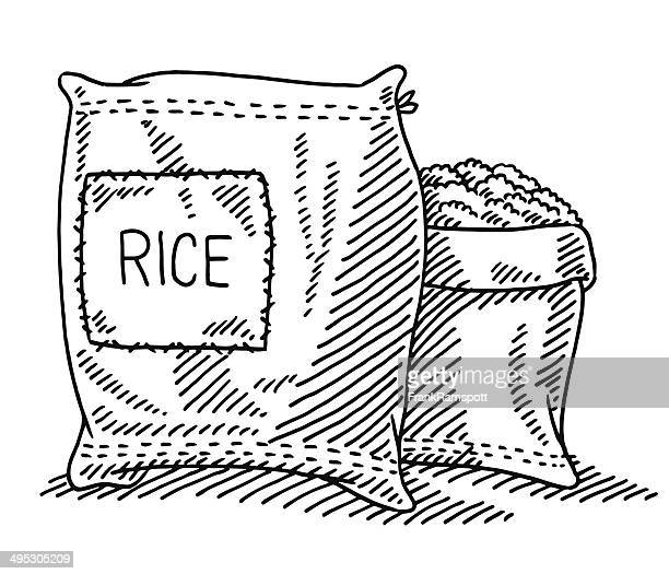 Sack Of Rice Drawing