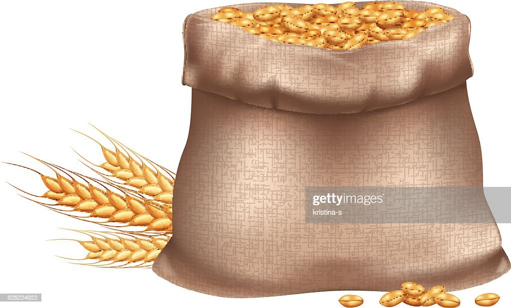 Sack of wheat grain.