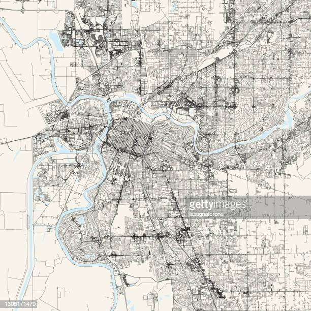 sacramento, california usa vector map - sacramento stock illustrations