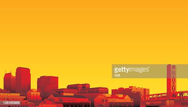 カリフォルニア州サクラメント - サクラメント点のイラスト素材/クリップアート素材/マンガ素材/アイコン素材