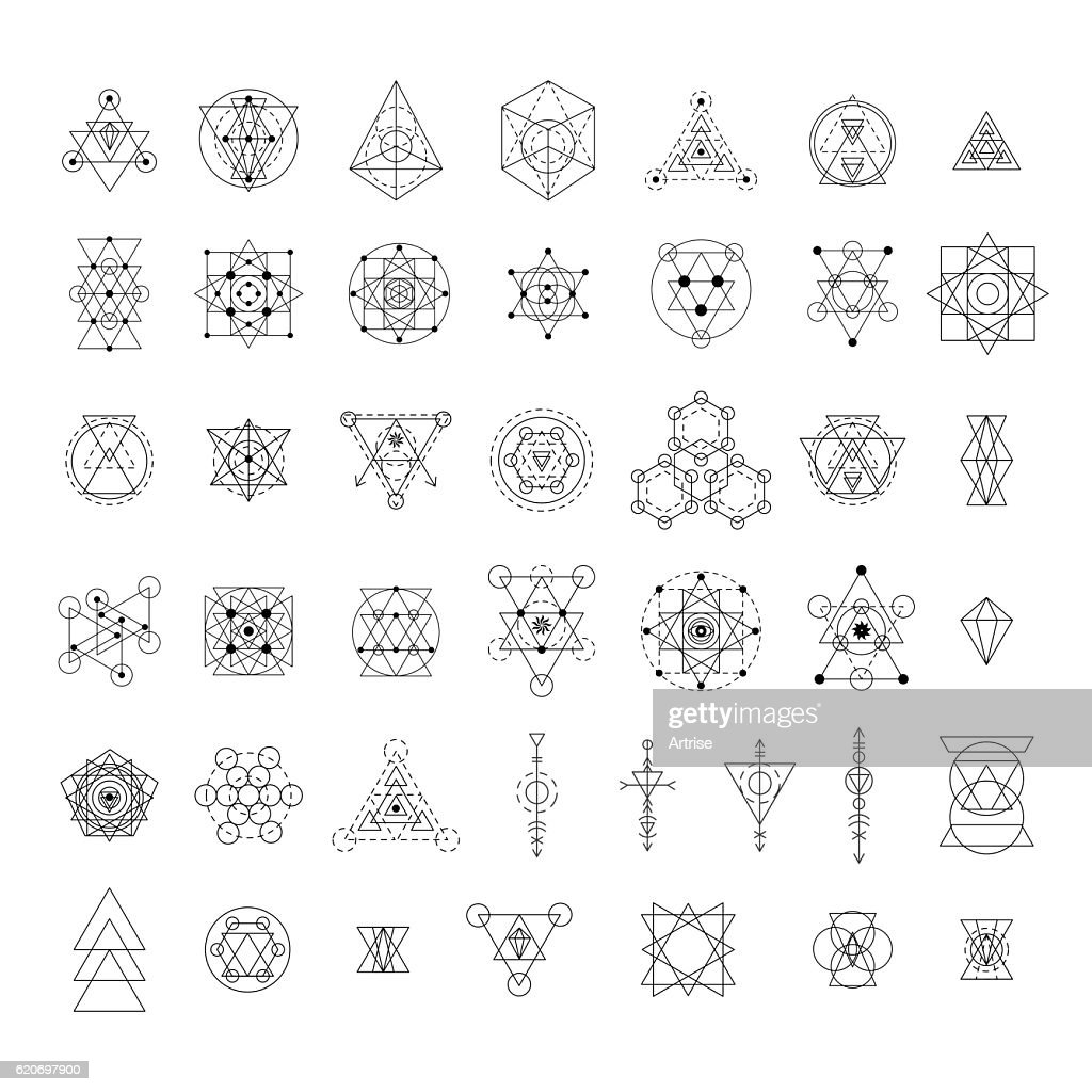 Sacred geometry signs collection