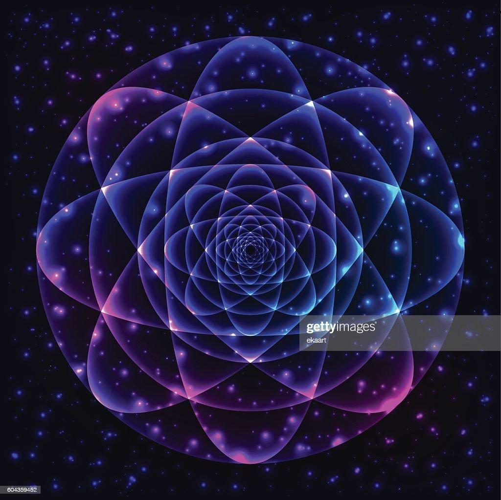 Sacred geometry symbol. Mandala mystery element