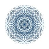 Sacred geometry vector illustration: Variant of Torus Yantra, known as Hypnotic Eye mandala.