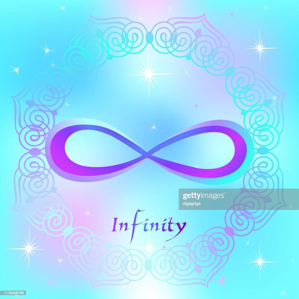 Sacred sign. The sign of infinity. Spiritual energy. Alternative medicine. Esoteric. Vector.