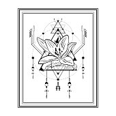 sacred triangel Flower