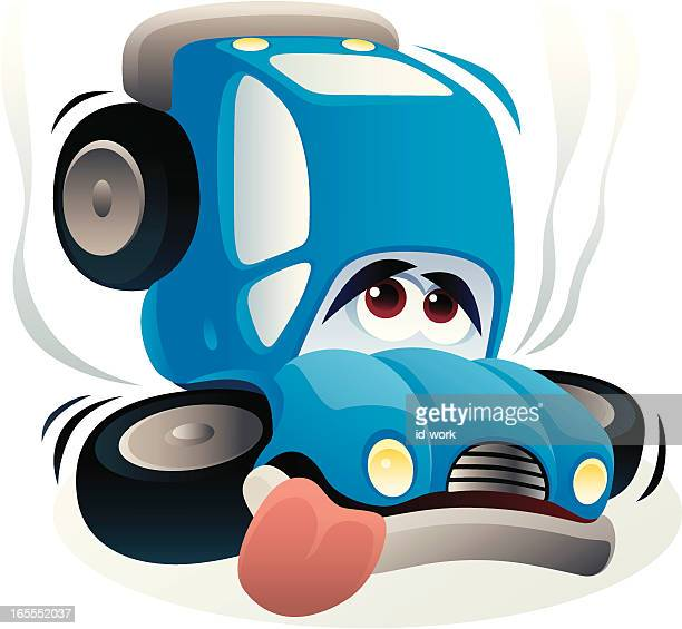 sad car - graphic car accidents stock illustrations