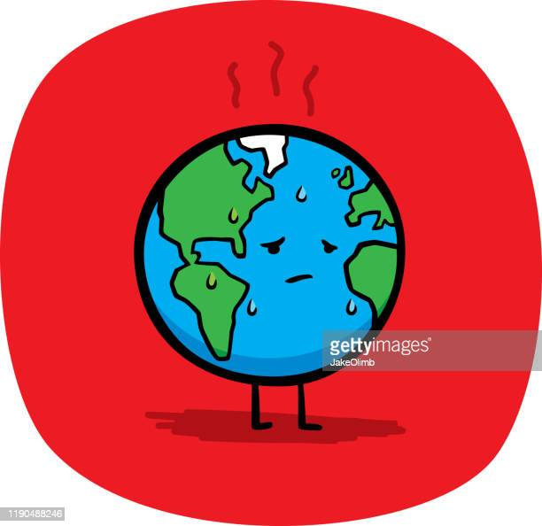 sad earth doodle - earth day stock illustrations