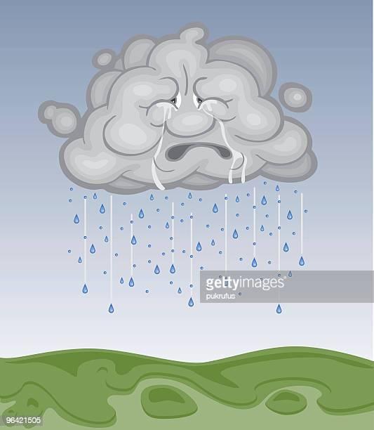 Tristes gris nuage est publié pluie pour la terre