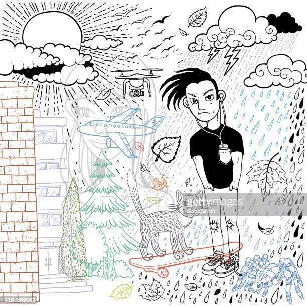 illustrations, cliparts, dessins animés et icônes de gars triste - jeunes garçons