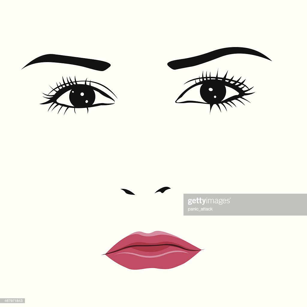 Sad or angry young woman vector illustration