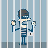 Sad thief is in jail