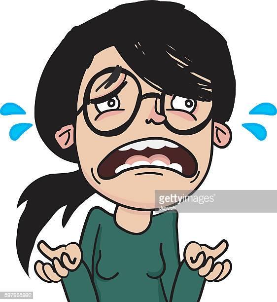 Sad Woman Character