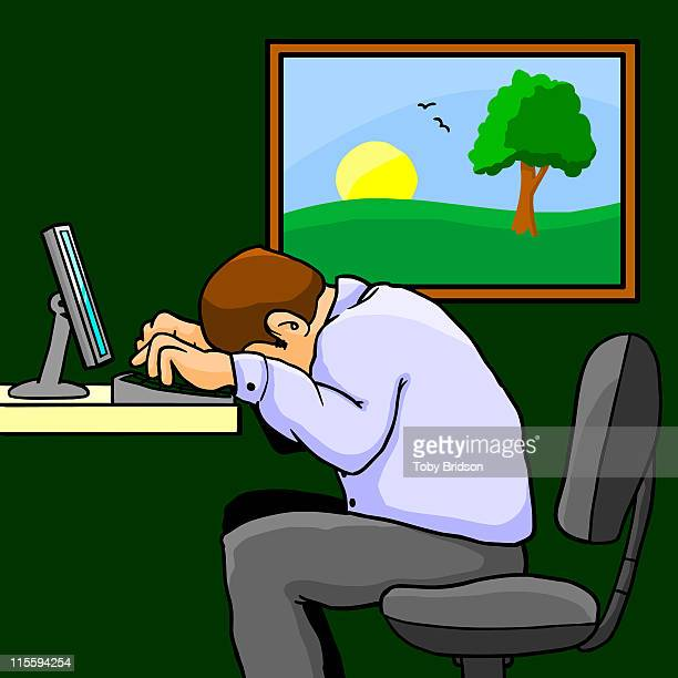 sadness - bad posture stock illustrations, clip art, cartoons, & icons