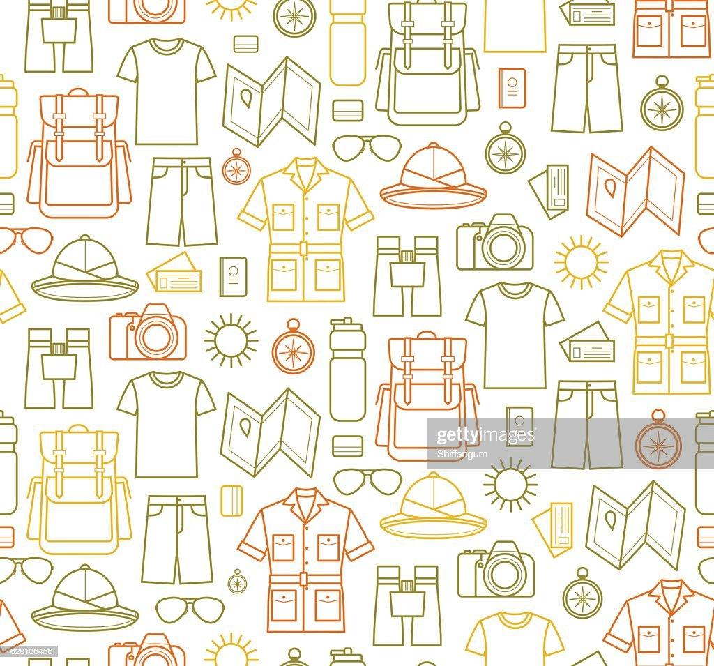 Safari icons Endless background