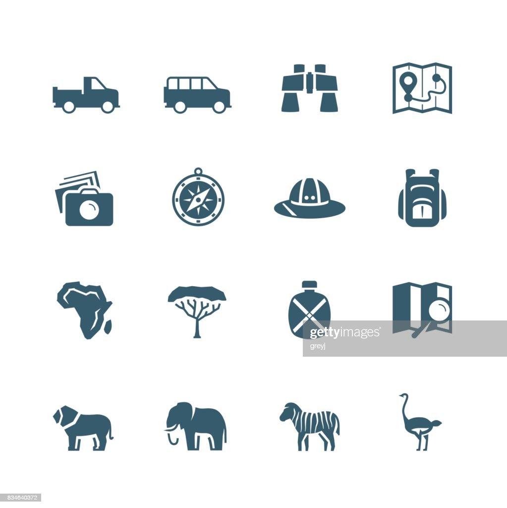 Safari vector icon set