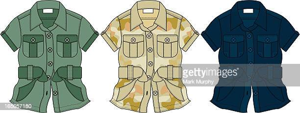 Safari/Army Style Blouse/Shirt