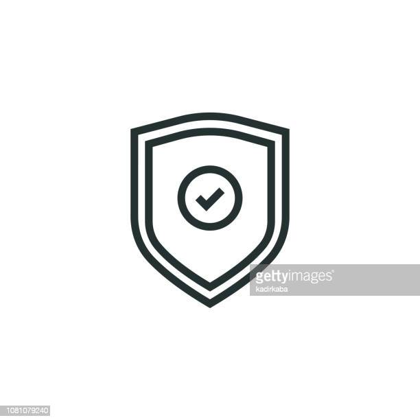 safe guard line icon - legal defense stock illustrations