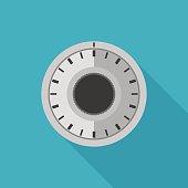 Safe lock flat icon.