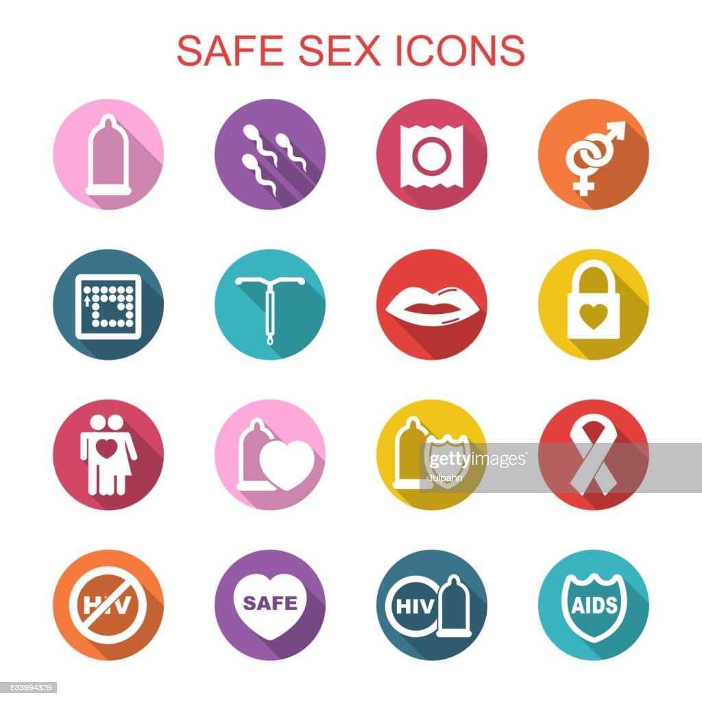 safe sex long shadow icons