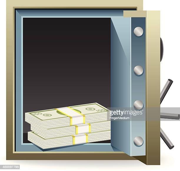 Safe with Cash inside