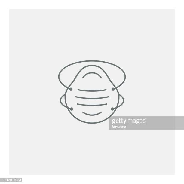 safety breathing mask icon - air respirator mask stock illustrations