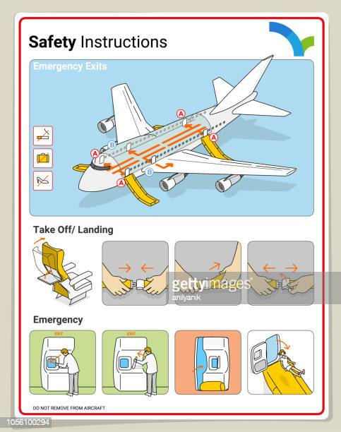 safety card - safe stock illustrations