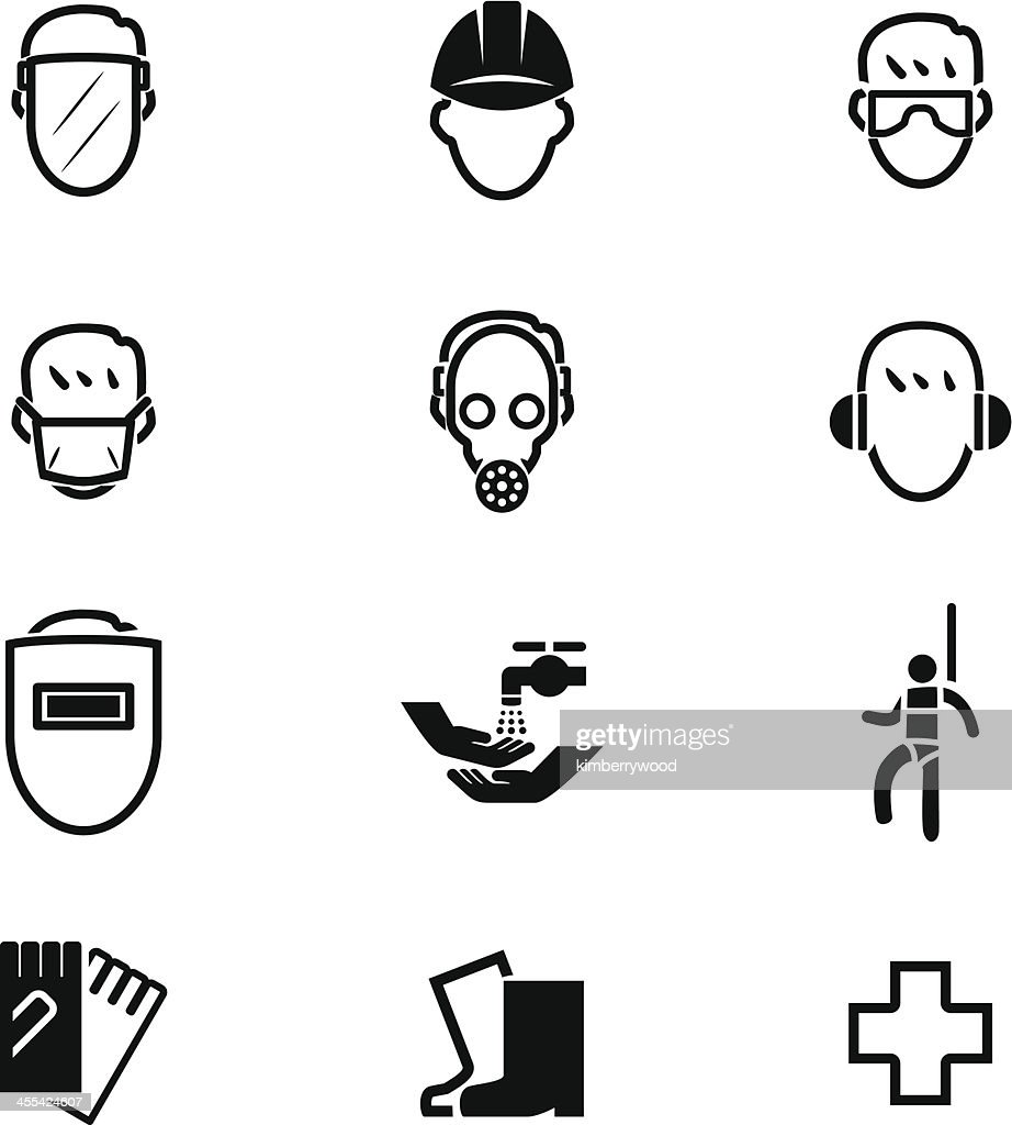 Safety First Icon Set : stock illustration