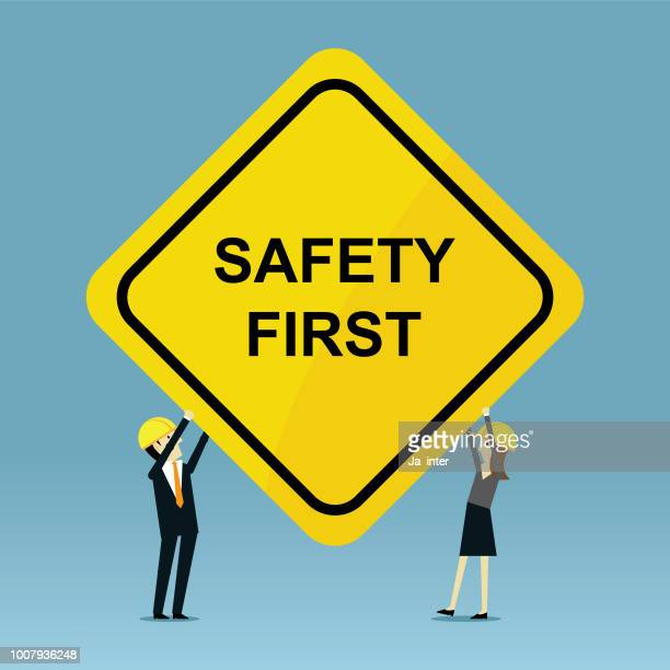 safety first please - sign language stock illustrations, clip art, cartoons, & icons