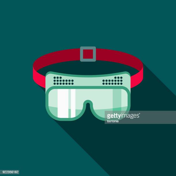 Safety Goggles Flat Design Home Improvement Icon