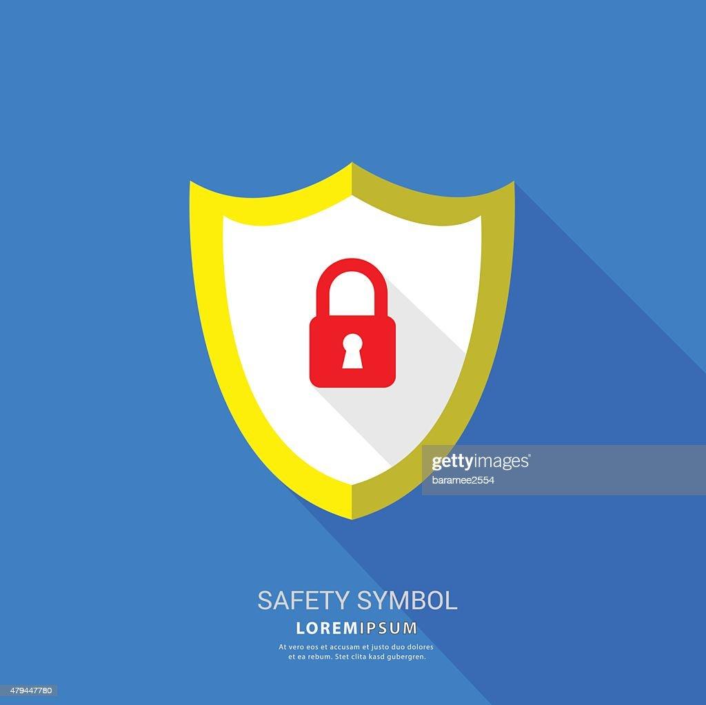 Safety lock symbol.