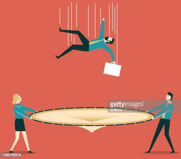 Safety Net Stock Illustrations And Cartoons | Getty Images