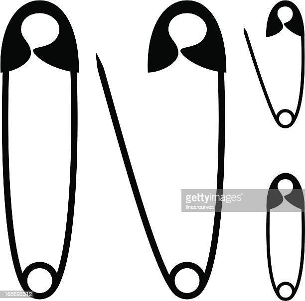 Safety pins silhouettes