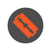 Safety razor blade icon. Vector