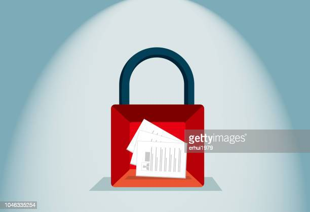 safety - safety deposit box stock illustrations