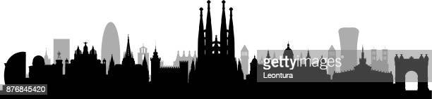 sagrada familia (all buildings are complete and moveable) - barcelona stock illustrations, clip art, cartoons, & icons