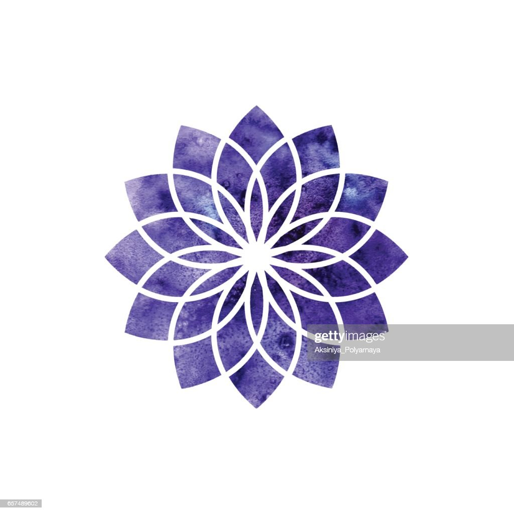 Sahasrara chakra. Sacred Geometry. One of the energy centers in the human body.