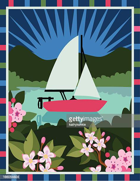 ilustrações, clipart, desenhos animados e ícones de vela e mayflowers - pilritreiro