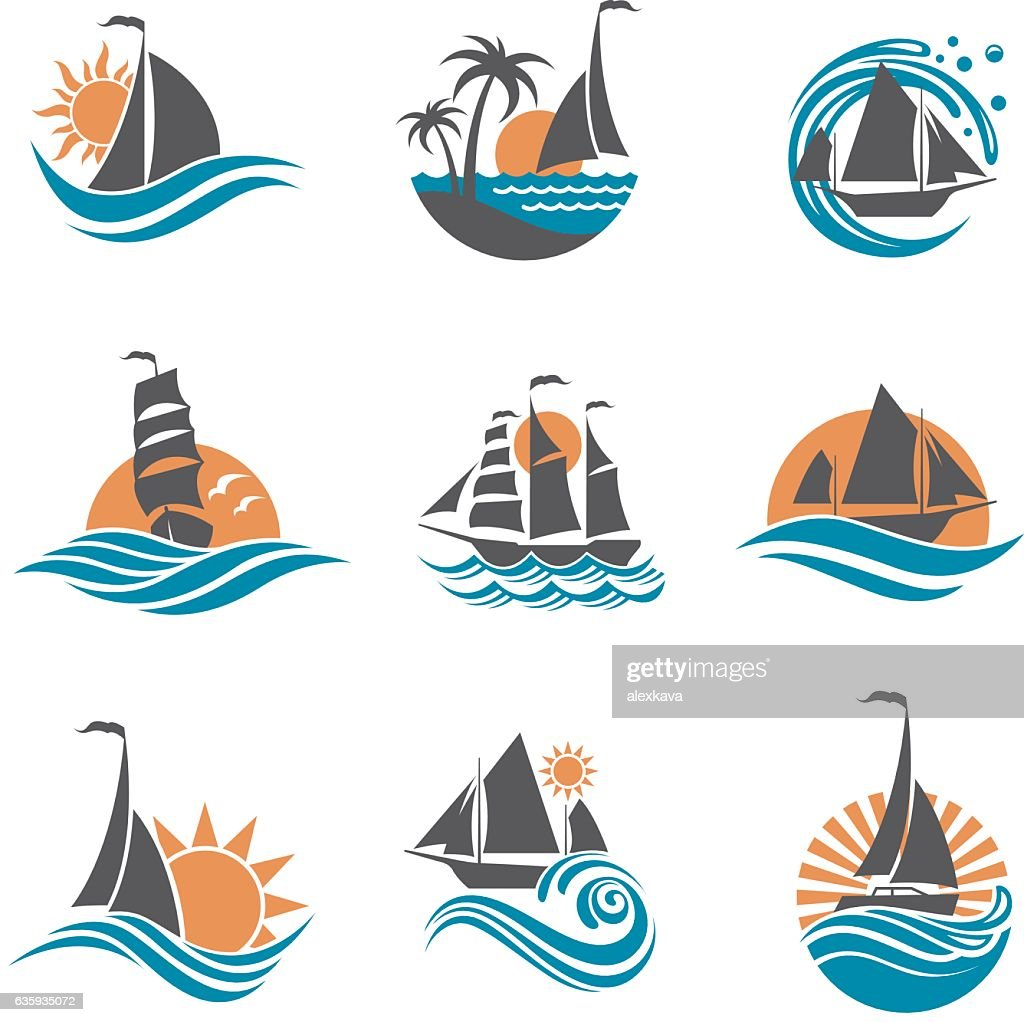 sailboat and yacht icons