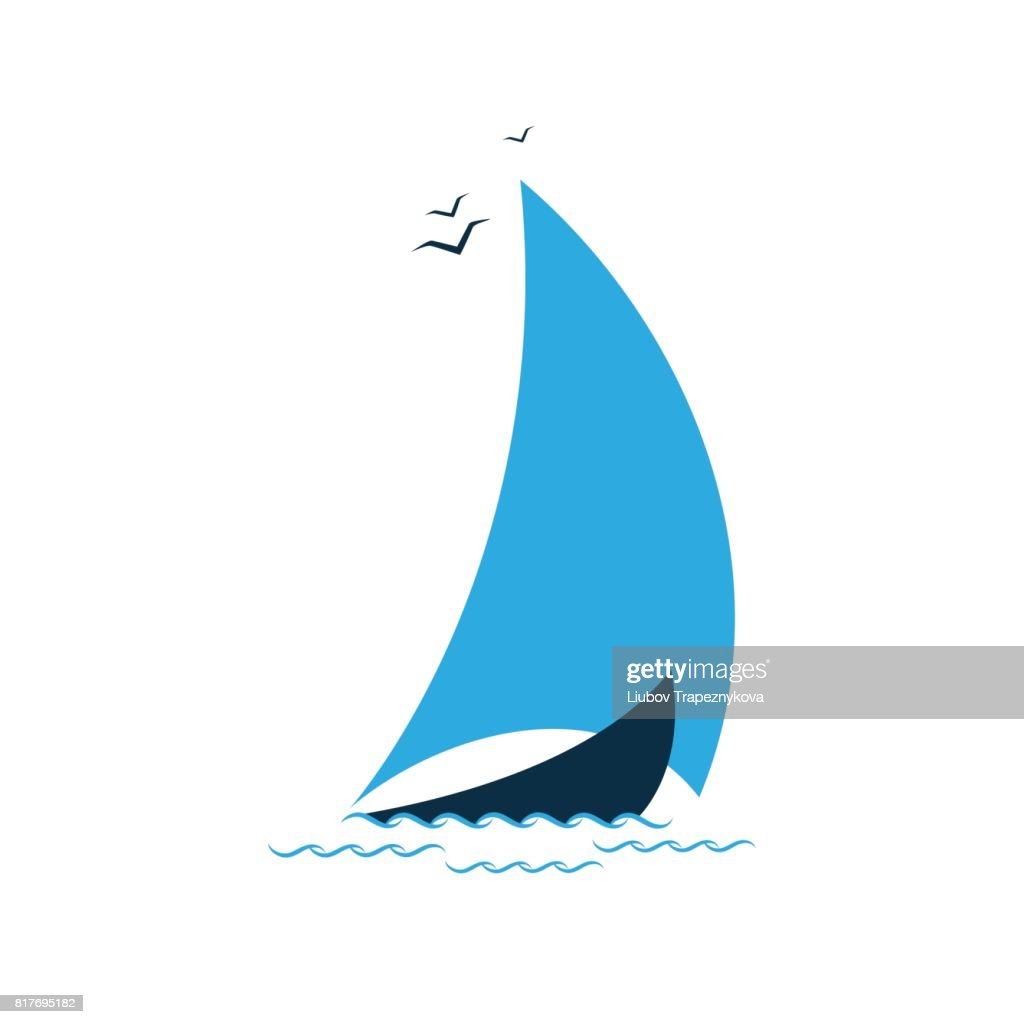 Sailboat in the sea. Concept for the tourist company