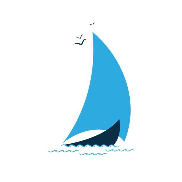 Sailboat in the sea. Concept for the tourist company