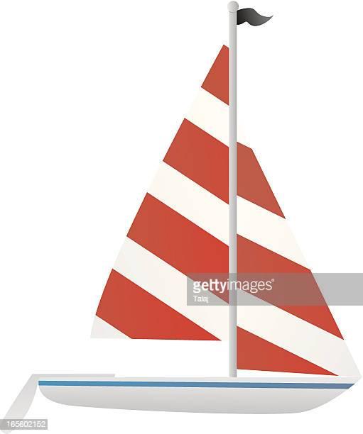 sailboat - sail stock illustrations, clip art, cartoons, & icons