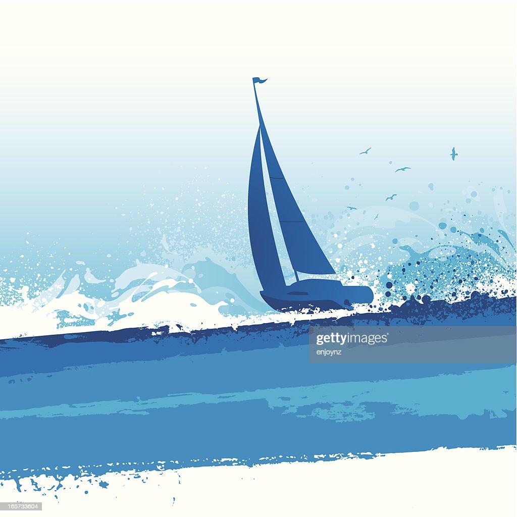 Sailing background : stock illustration