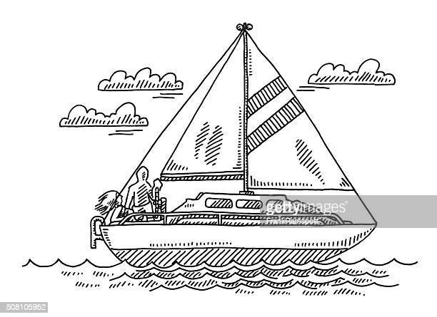 Sailing Boat Summer Vacation Drawing